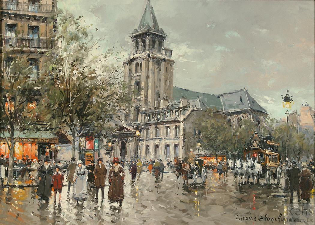 cbecde223 Antoine Blanchard (1910 - 1988). Eglise de Saint Germain ...