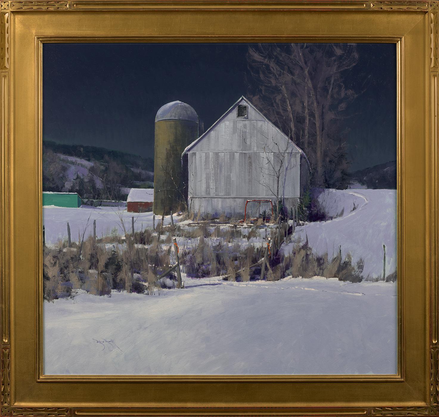 ben_bauer_bb1142_a_driftless_barn_yard_at_midnight_framed.jpg