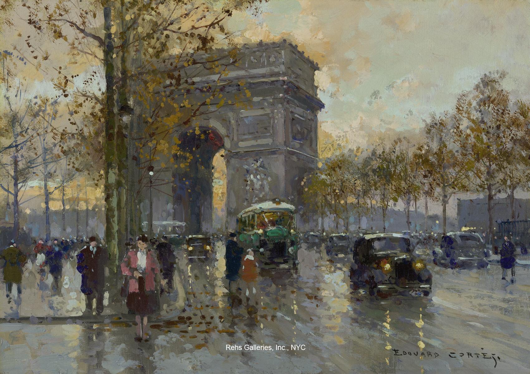 Art Enthusiastic Watercolour Paris Champs Elysees Arc Of Triomphe Sign