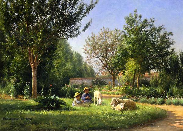 Jean ferdinand chaigneau 1830 1906 for Artistes de jardin