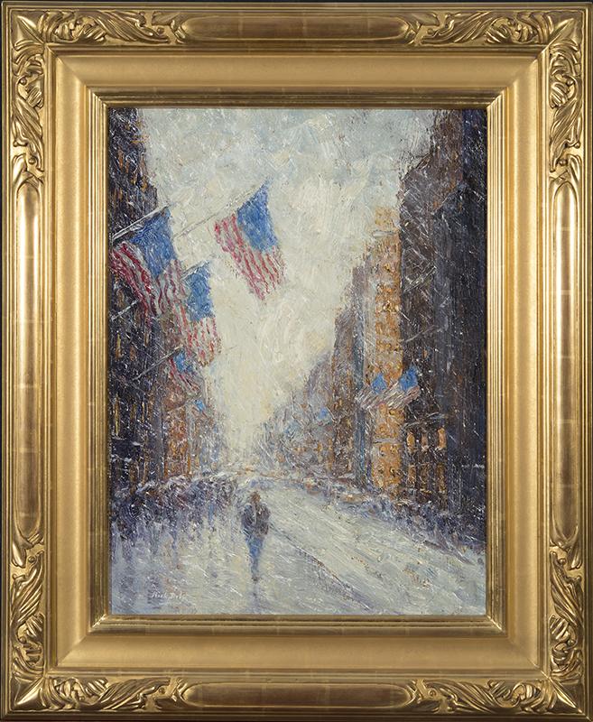 mark_daly_md1036_snowy_flag_impressions_framed.jpg