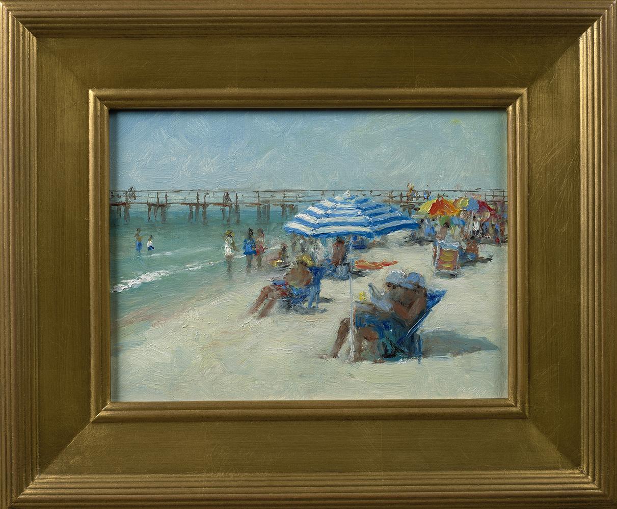 mark_daly_md1067_blue_striped_umbrella_naples_florida_framed.jpg