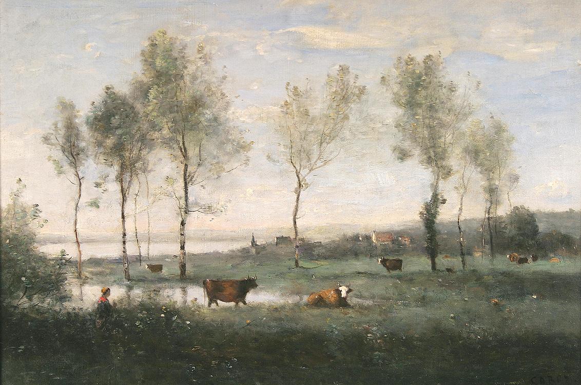 P turage dans les marais souvenir des environs d 39 amiens for Camille corot